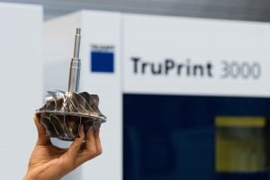 Using 3D printing, TRUMPF fabricated the impeller for a gas compressor in just half the time it would normally take to produce. (Source: Trumpf Group)