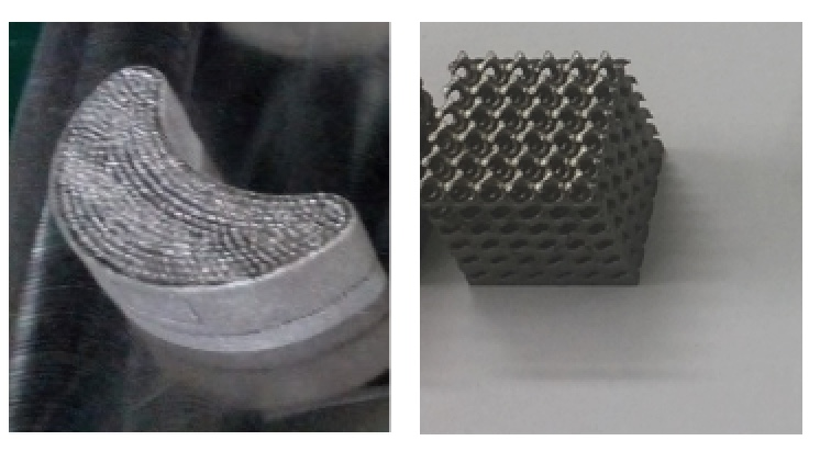 Figure 2 shows typical 3D printed porous scaffolds for biomedical application