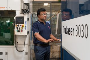 Most of Magod's employees are well-versed in laser cutting.