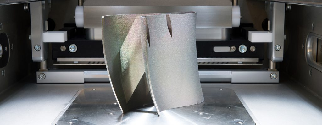 Metal 3D printers (DMLS). Direct metal laser sintering (DMLS) is an additive manufacturing technique that uses a Ytterbium fibre laser fired into a bed of powdered metal.;
