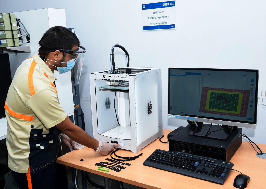 The RTA is working on 3D printing spare parts for Dubai Metro. Courtesy: Roads and Transport Authority