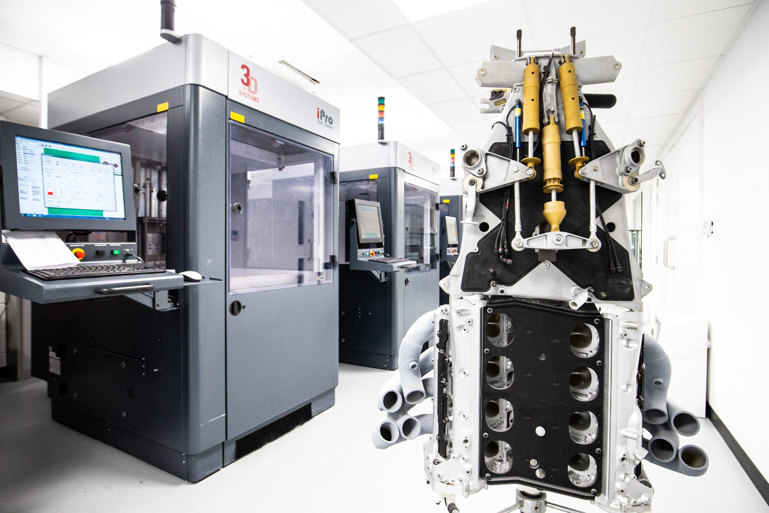 Renault Sport F1 Team Technical Centre - additive manufacturing. Renault Sport F1 Team Headquarters, Enstone, England. (Source: Renault DP World F1 Team)
