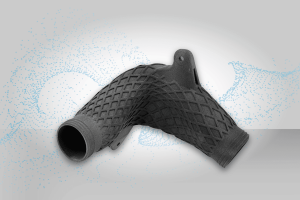 Detail Of A Manufactured Duct. Image - ALM & BASF 3D