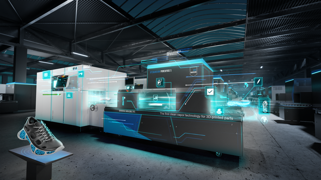 Siemens industrializes additive manufacturing with polymers with EOS and DyeMansion as partners